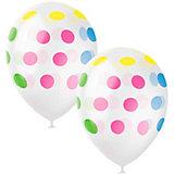 """Воздушные шары Latex Occidental """"Разноцветный горошек"""" 25 шт, декоратор"""