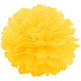 Помпон бумажный Патибум 40 см, ярко-жёлтый
