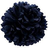 Помпон бумажный Патибум 40 см, чёрный
