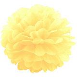 Помпон бумажный Патибум 40 см, жёлтый