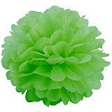 Помпон бумажный Патибум 40 см, светло-зелёный