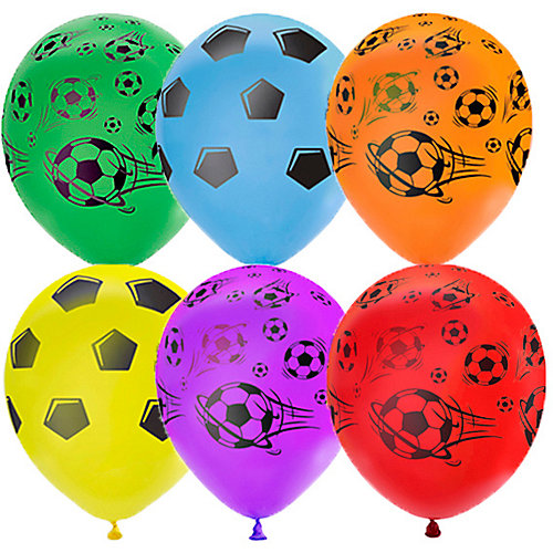 """Воздушные шары Latex Occidental """"Футбол"""" 25 шт, пастель + декоратор - разноцветный от Latex Occidental"""