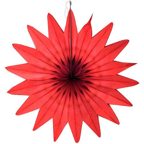"""Бумажное украшение Патибум """"Цветок"""" 50 см, красный - разноцветный от Патибум"""