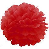 Помпон бумажный Патибум 40 см, красный