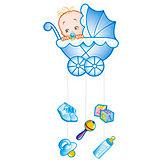 """Подвеска Водолей """"С Днем Рождения, Малыш"""" 75х40 см, голубая"""