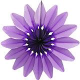 """Бумажное украшение Патибум """"Цветок"""" 50 см, фиолетовый"""