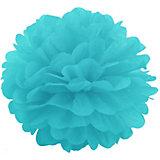 Помпон бумажный Патибум 40 см, голубой