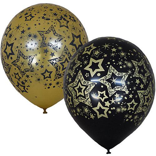 """Воздушные шары Latex Occidental """"Голливуд Black&Gold"""", 25 шт - разноцветный от Latex Occidental"""