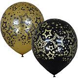 """Воздушные шары Latex Occidental """"Голливуд Black&Gold"""", 25 шт"""