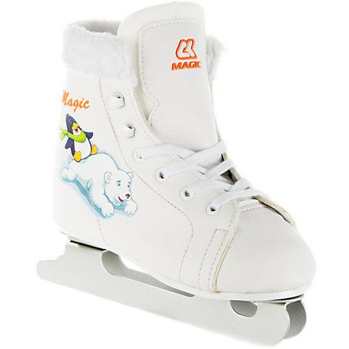 Детские коньки СК Magic - белый от Спортивная Коллекция
