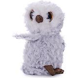 Мягкая игрушка ABtoys Совенок, серый, 15 см