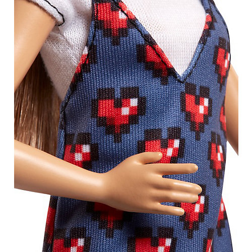 """Кукла Barbie """"Игра с модой"""" в топе и в сарафане с сердечками, 29 см от Mattel"""