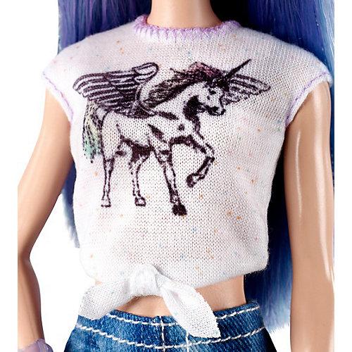 """Кукла Barbie """"Игра с модой"""" в белом топе и джинсовых шортах, 29 см от Mattel"""