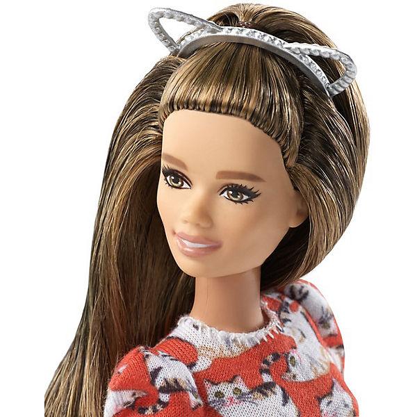 """Кукла Barbie """"Игра с модой"""" в красном платье с кошками, 29 см"""