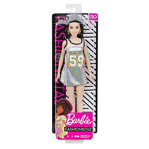 "Кукла Barbie ""Игра с модой"" в блестящем сарафане-майке, 29 см от Mattel"