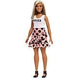 """Кукла Barbie """"Игра с модой"""" в белом топе и юбке в горох, 29 см"""