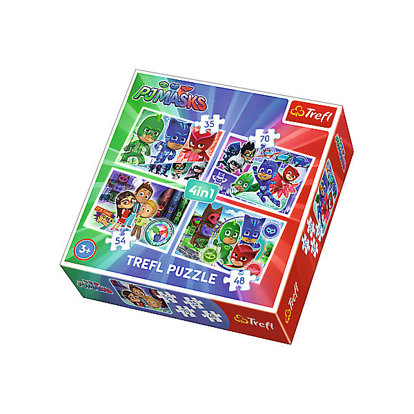 4in1 Puzzle - 35/48/54/70 Teile - PJ Masks
