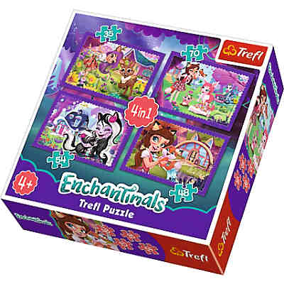 4in1 Puzzle - 35/48/54/70 Teile - Enchantimals