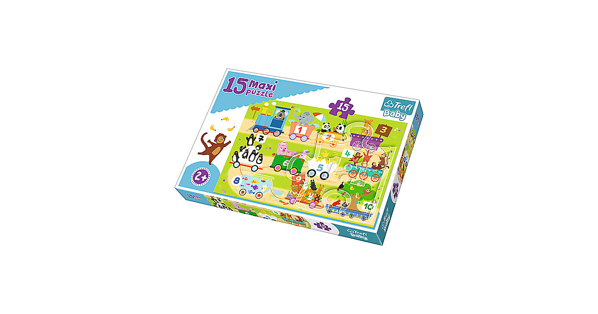 Maxi Puzzle 15 Teile - Zahleneisenbahn