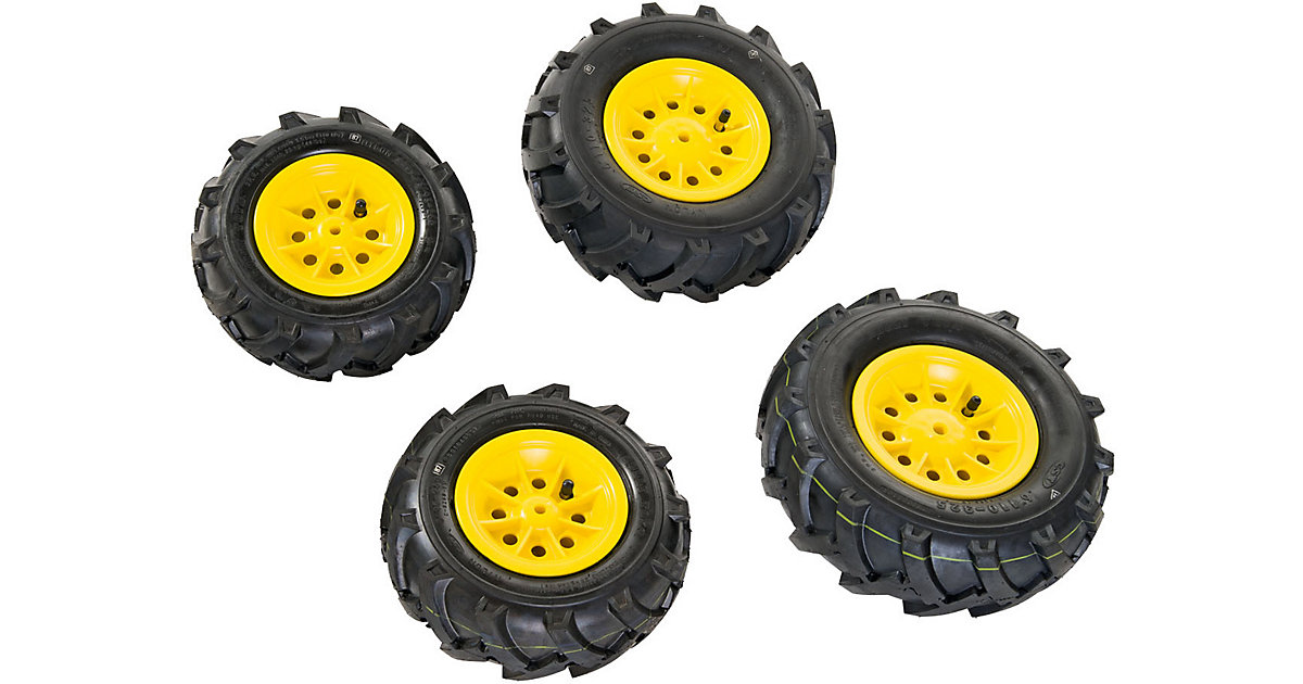 rollyTrac Luftreifen, gelbe Felgen, 2x 260x95 + 2x 325x110