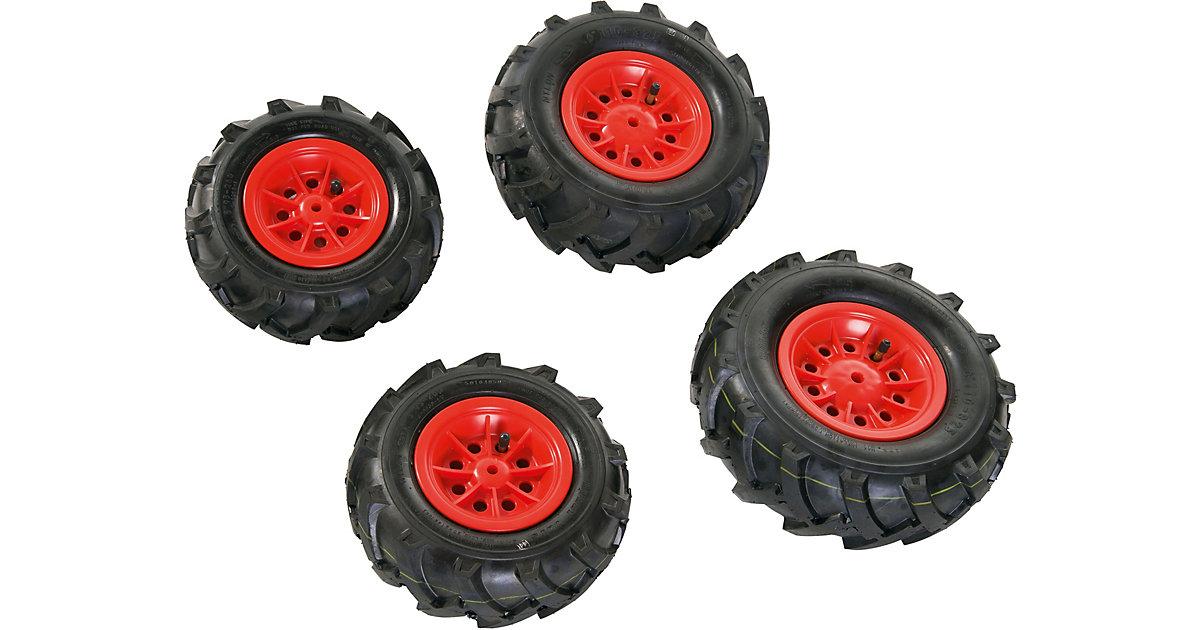 rollyTrac Luftreifen, rote Felgen, 2x 260x95 + 2x 325x110