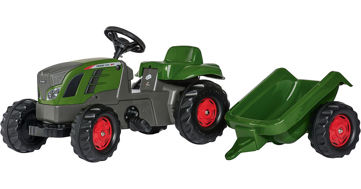 rollyKid Trettraktor Fendt 516 Vario mit Anhänger grün