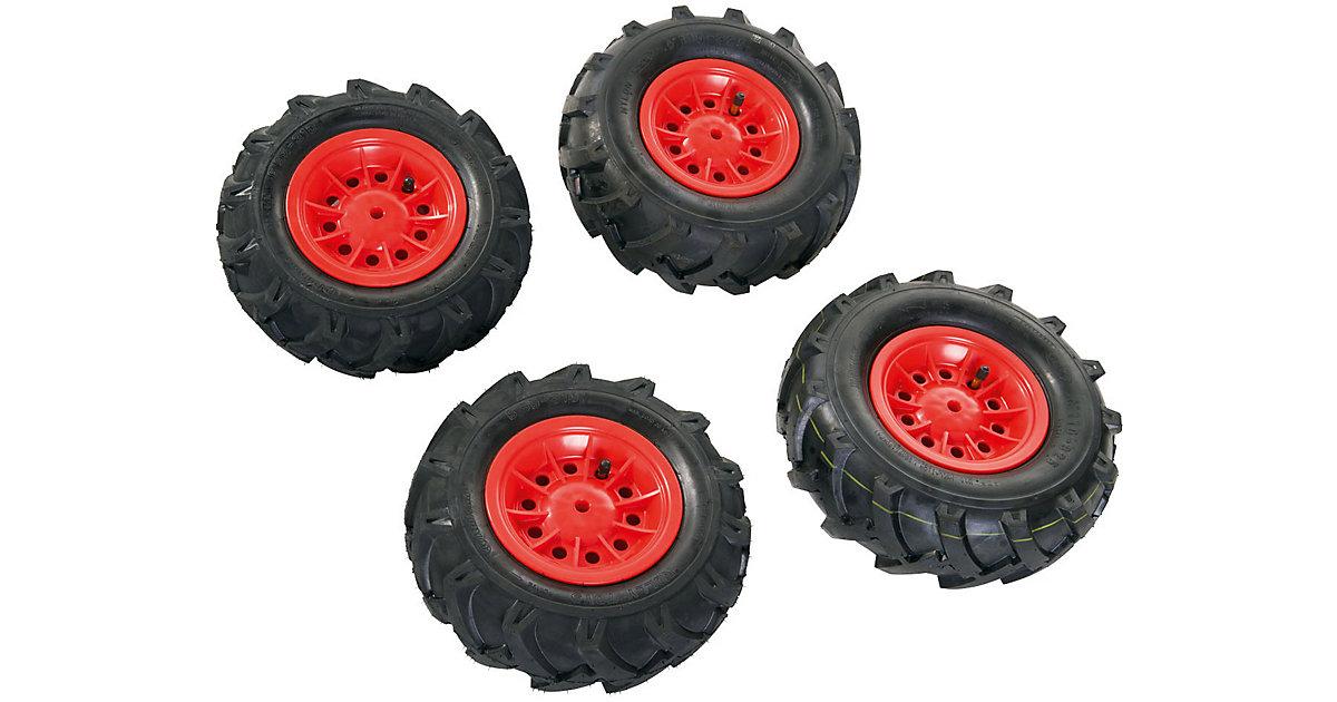 rollyTrac Luftreifen rote Felgen, 2x 325x110 + 2x 310x95