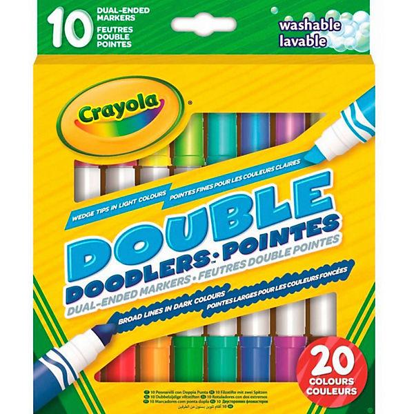 Двусторонние смываемые фломастеры Crayola, 10 шт.