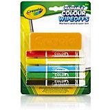 Набор стираемых фломастеров Crayola, с губкой