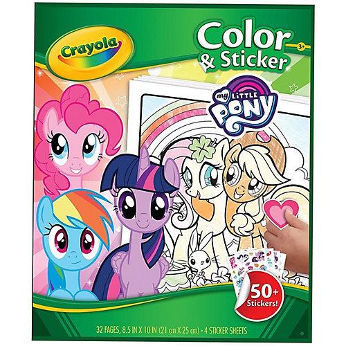 """Раскраска Crayola """"Моя маленькая Пони"""" с наклейками, 50 шт. от Crayola"""