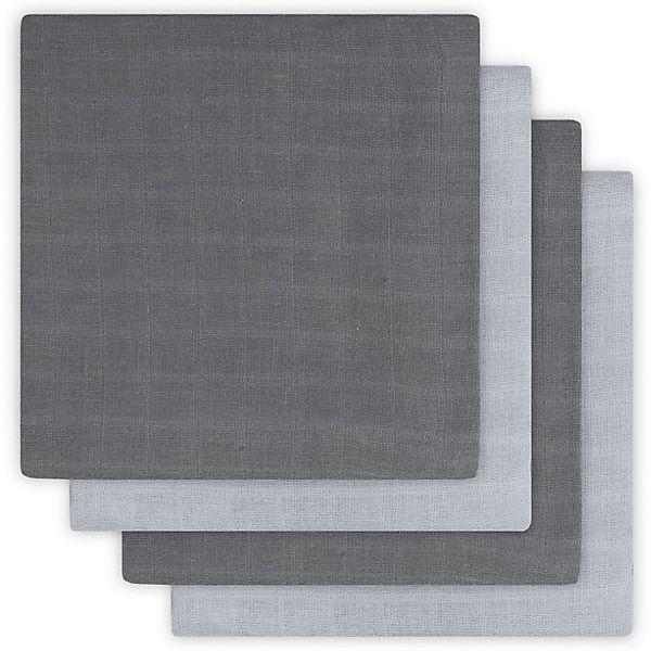 Комплект муслиновых пеленок Jollein, 70х70 см, 4 шт (Серый)