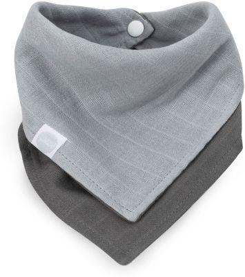 Муслиновый треугольный нагрудник Jollein (Серый)