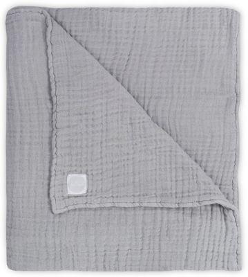 Муслиновое одеяло Jollein, 120х120 см (Серый)
