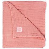 Муслиновое одеяло Jollein, 75х100 см (Коралловый)