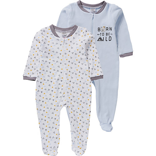Boley Baby Schlafanzug Doppelpack Gr. 50/56 Jungen Kinder | 04001742777317