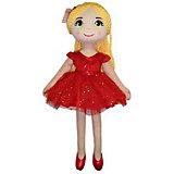 Мягкая кукла ABtoys Балерина в красной пачке, 40 см
