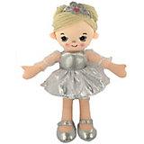 Мягкая кукла ABtoys Балерина в серебристом платье, 30 см