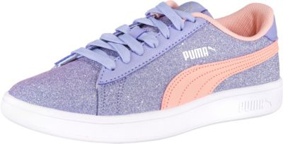 Sneakers Low Suede Glam mit Schnürverschluss für Mädchen, PUMA