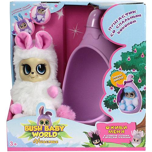 """Интерактивная мягкая игрушка 1Toy Bush baby world """"Пушистики"""" со спальным коконом, Соня, 17 см от 1Toy"""