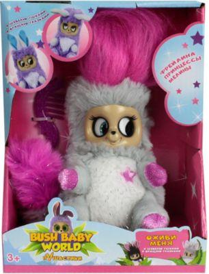 "Интерактивная мягкая игрушка 1Toy Bush baby world ""ПушАстики"" Фрейлина Леди Лулу, 14 см"