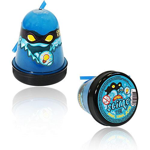 Лизун Slime Ninja светится в темноте, синий от Волшебный мир