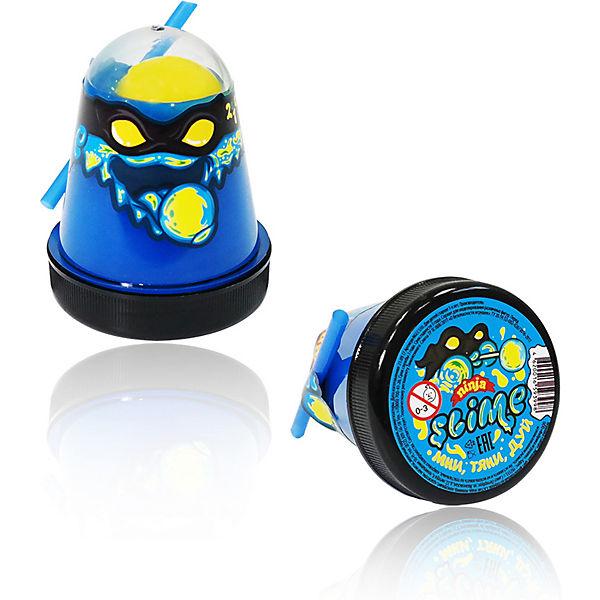 Лизун Slime Ninja синий и желтый