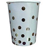 Стаканы феникс-Презент Голубой с серебряными кружочками, 250 мл, 6 шт.
