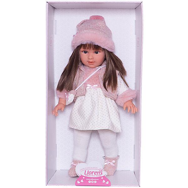 Кукла Llorens Мартина в бело-розовом, 40 см