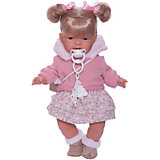 Кукла Llorens Жоэлле в розовом 38 см, со звуком