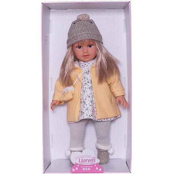 Кукла Llorens Мартина в бело-жёлтом, 40 см