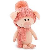 Мягкая игрушка Orange Хрюня, 20 см, в розовой шапочке