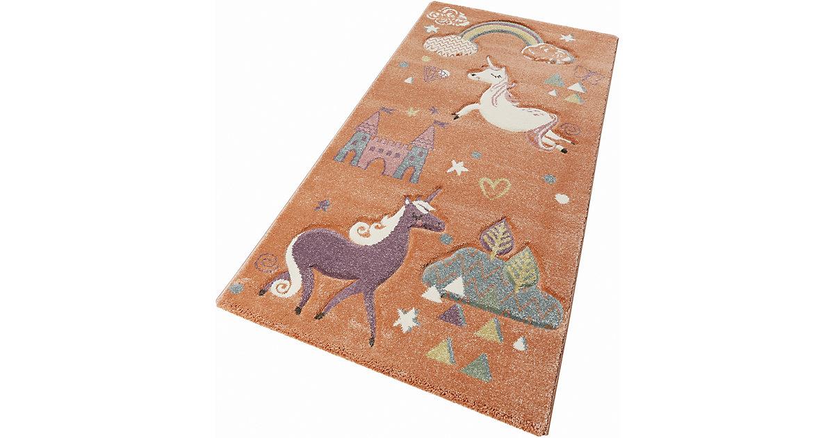 ESPRIT · ESP-21974-020 Kinderzimmerteppich Sunny Unicorn, 200 x 290 cm, pastellorange