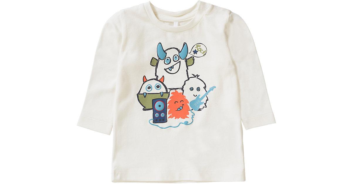 NBMOLSIL LS TOP - T-Shirts - männlich weiß Gr. 68 Jungen Baby