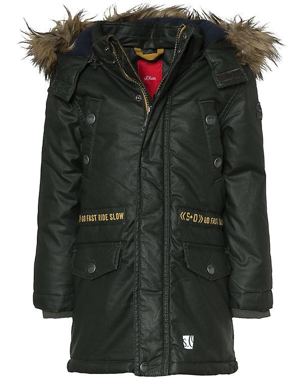 quality design bd426 6d216 Wintermantel mit abnehmbarer Kapuze und Kunstfellkragen für Jungen, s.Oliver